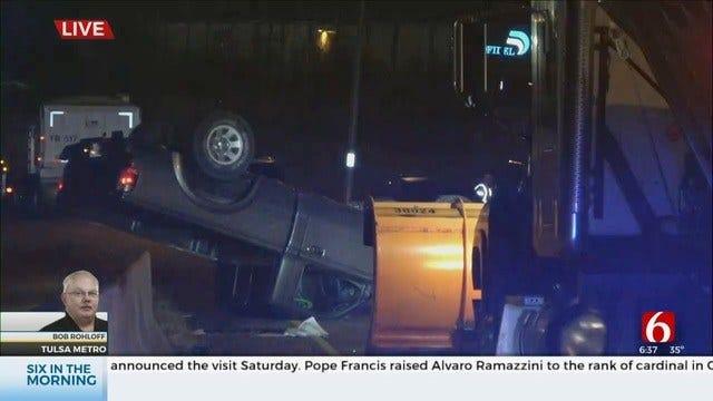 WATCH: Multiple Vehicle Crash On EB I-244