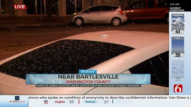 WATCH: Winter Weather Advisory, Sleet In Bartlesville