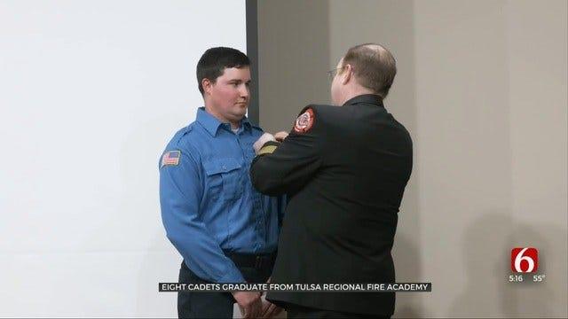 Tulsa Regional Fire Academy At TCC Graduates 8 Cadets