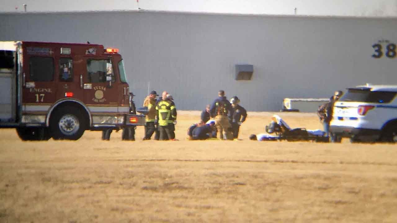 Pilot Taken To Hospital After Bad Landing At Tulsa International Airport