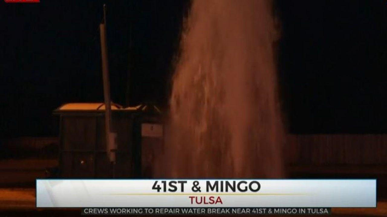 Crews Work To Repair Tulsa Water Break