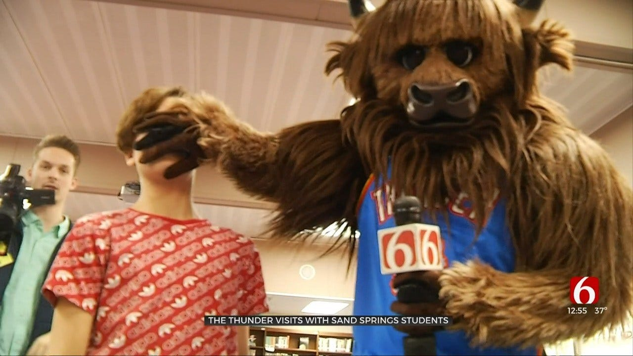 Thunder Visits Sand Springs Middle School