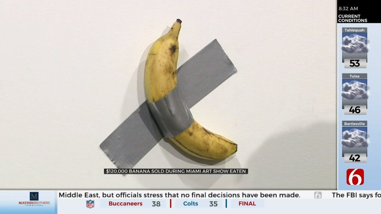 Performance Artist Eats $120,000 Banana