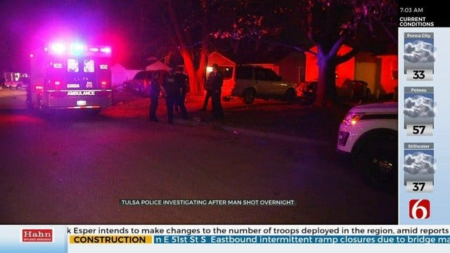 Tulsa Police: Man Shot In Back Over Racial Slur