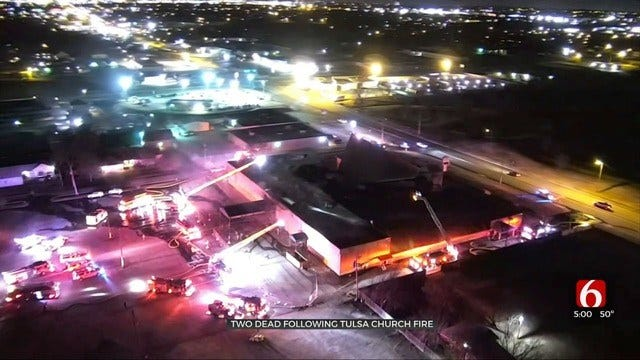 2 Dead After Tulsa Church Catches Fire For 2nd Time