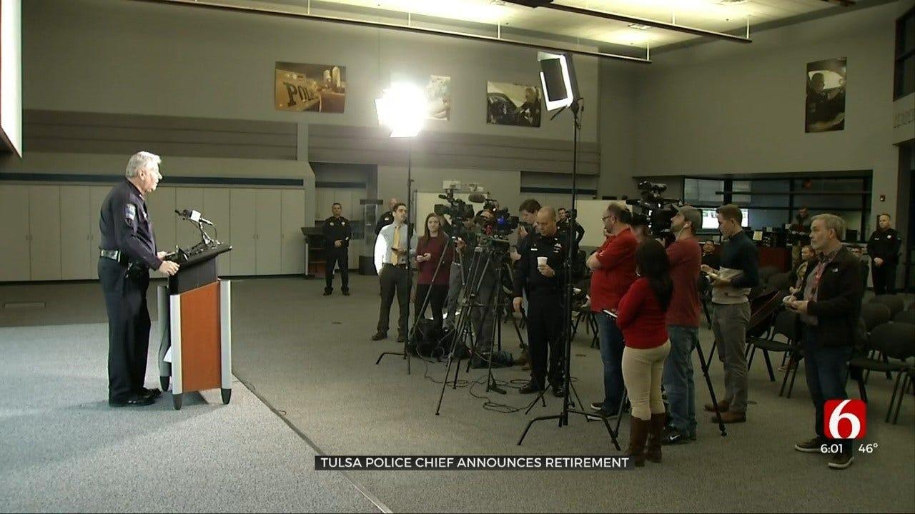Tulsa Chief Of Police Chuck Jordan Announces His Retirement