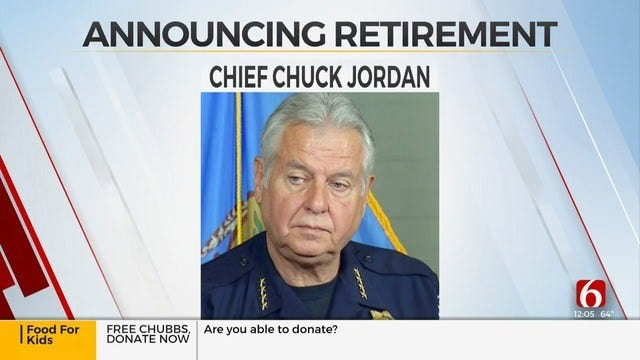 Tulsa Police Chief Chuck Jordan To Announce His Retirement