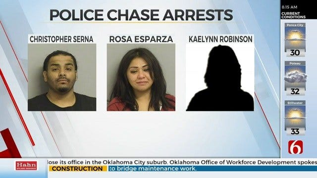 3 People Arrested After Tulsa Chase, Police Say