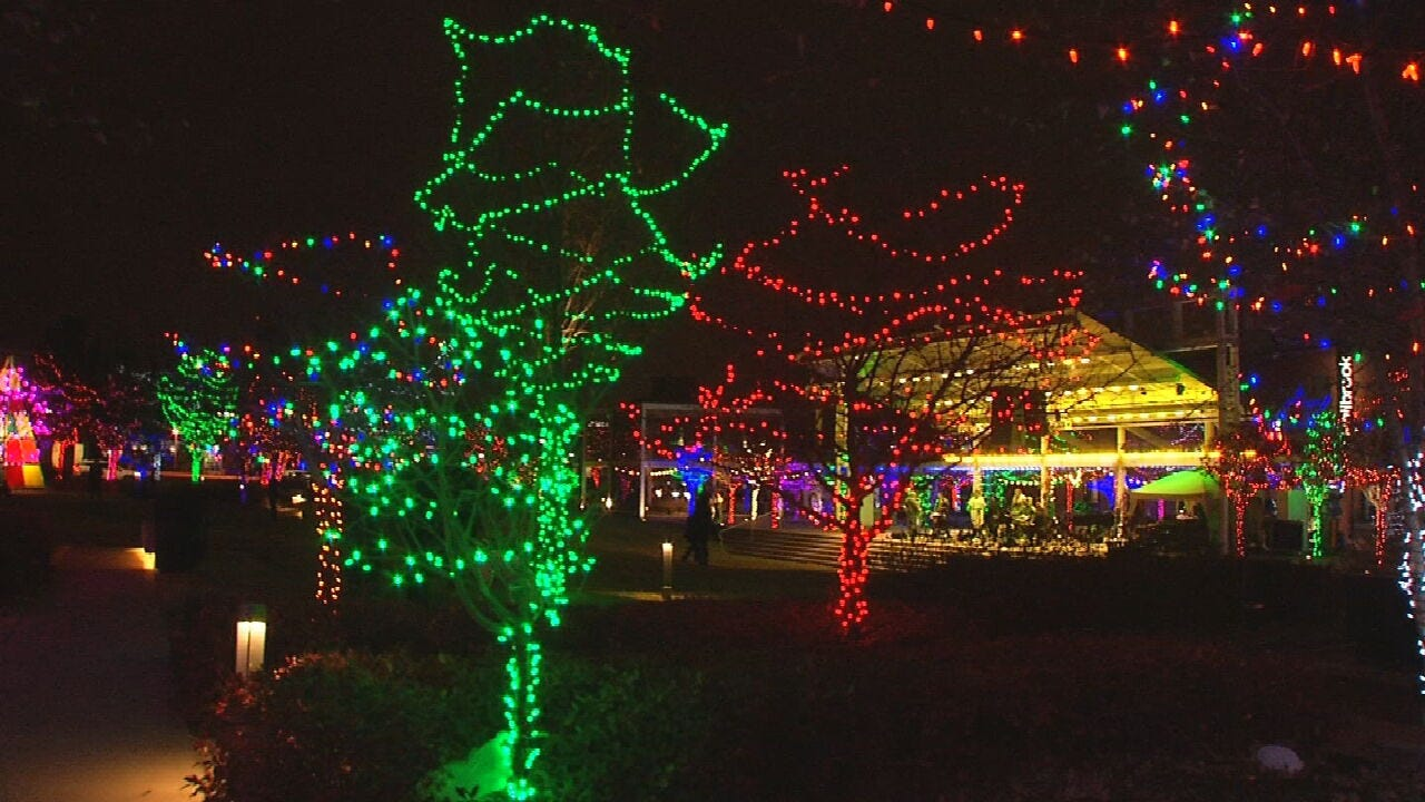 Tulsa's Guthrie Green Glowing For Holiday Market