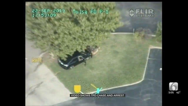 WATCH: Tulsa Police Video Shows Juvenile Crash During Pursuit