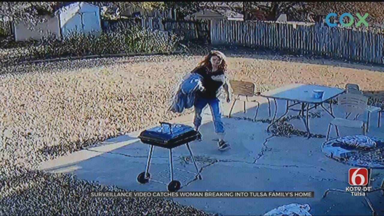 CAUGHT ON CAMERA: Woman Breaks Into Tulsa Home