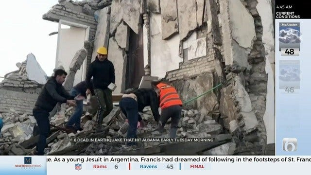 Powerful Quake Destroys Buildings In Albania, Killing At Least 14