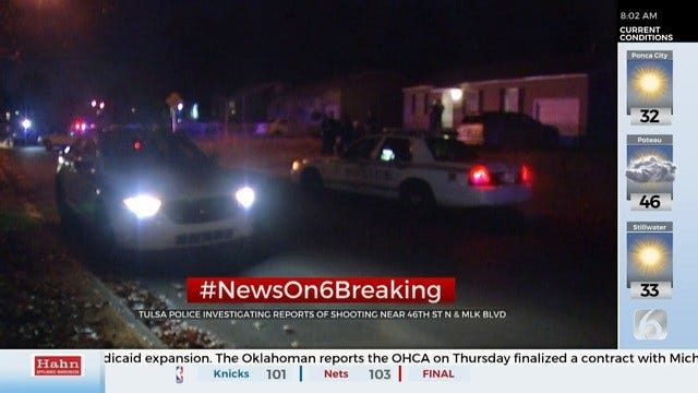 Update: 1 Person Injured In Tulsa Shooting, Police Say