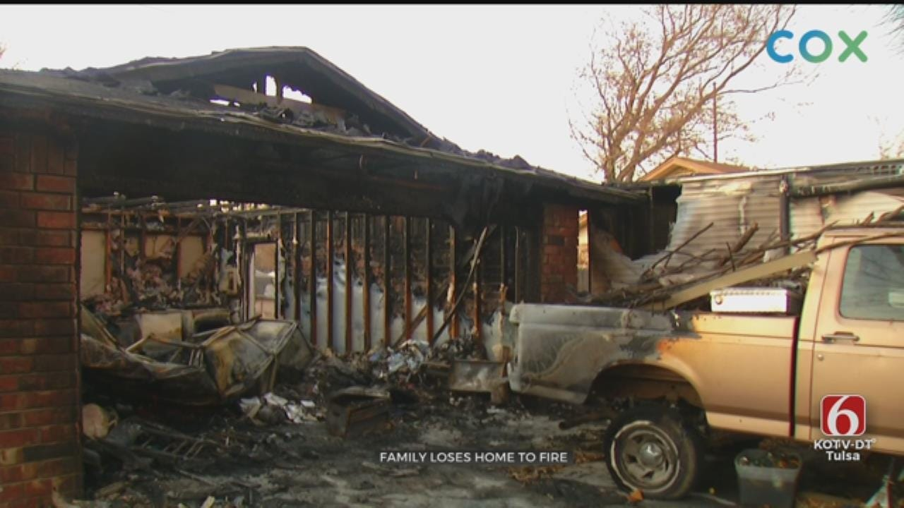 Glenpool Family's Home A Total Loss After Fire