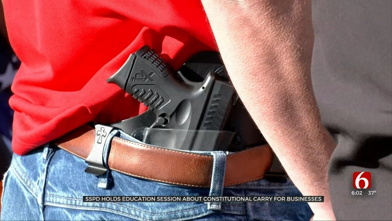 Sand Springs Police Holding Class To Help Business Owners Understand Constitutional Carry Law