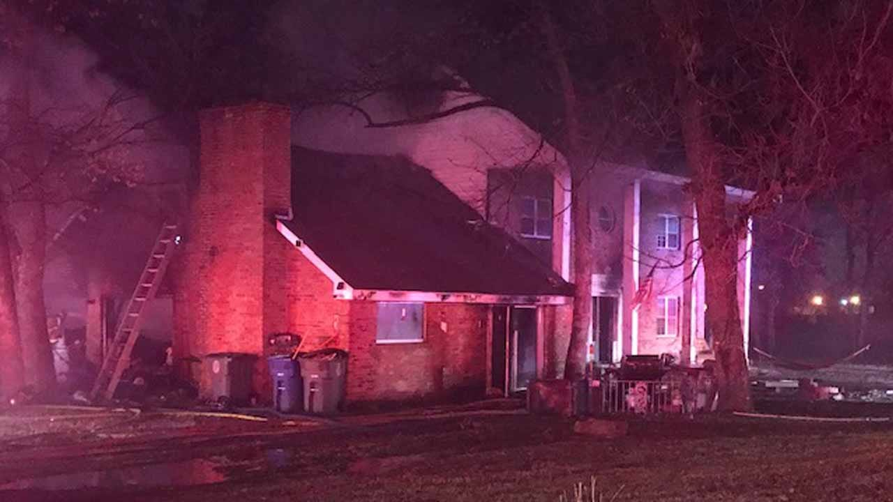 Family Escapes Tulsa House Fire Because Of Family Dog