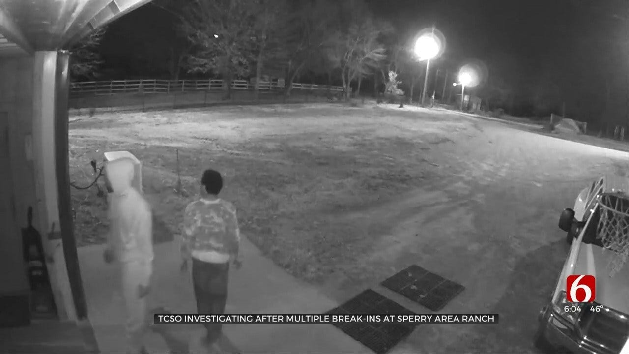 WATCH: Tulsa Co. Sheriff's Office Investigates Sperry Ranch Break-Ins