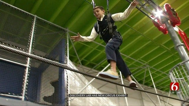 Kids Can Join The Circus At Tulsa's Discovery Lab Exhibit