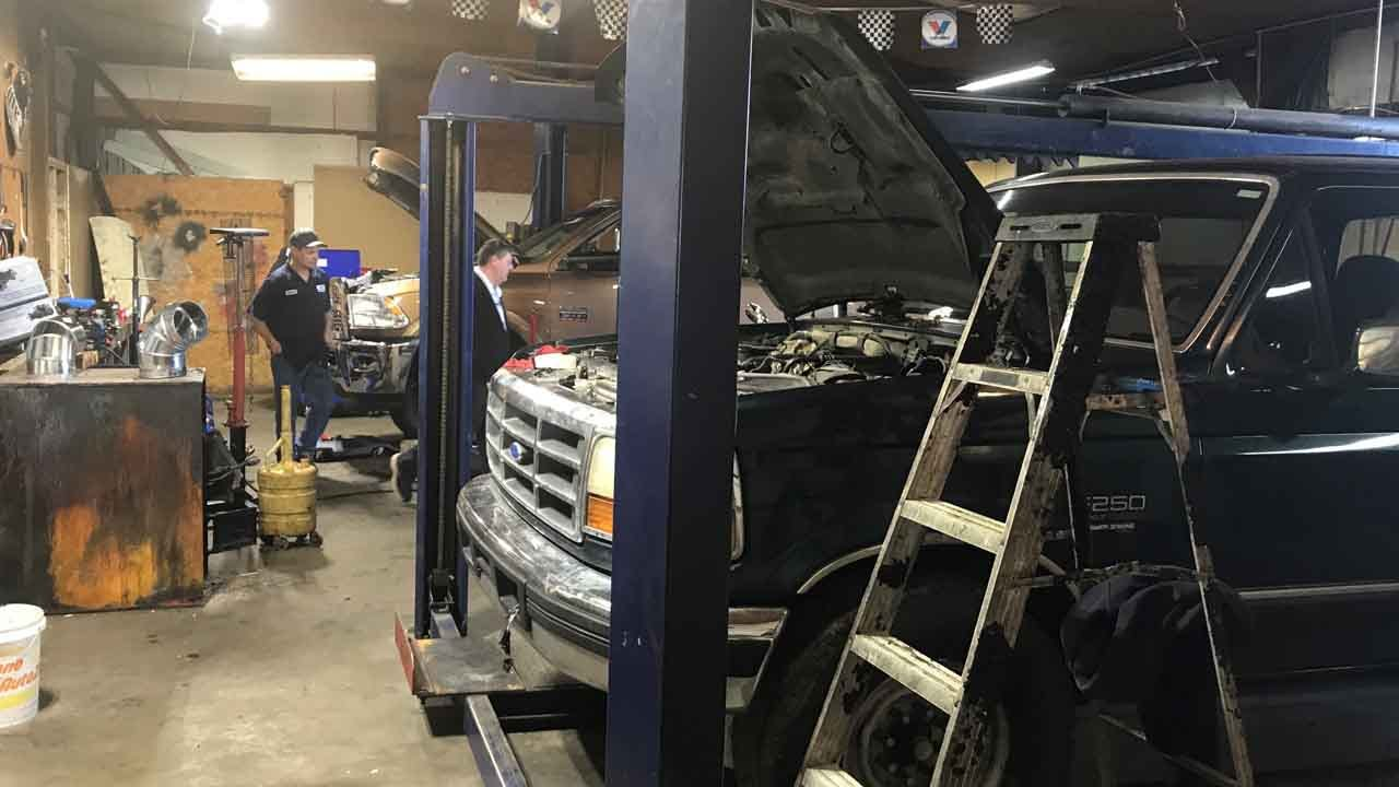 WATCH: Wagoner Auto Shop Reopens After Fire Destroyed Original Location