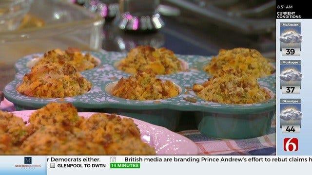 Cornbread Stuffing Muffins
