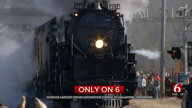 Union Pacific 'Big Boy' Steam Engine Heads Through Oklahoma Saturday