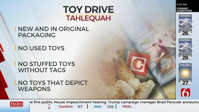 Cherokee County Sheriff's Office Holds 24-Hour Christmas Toy Drive