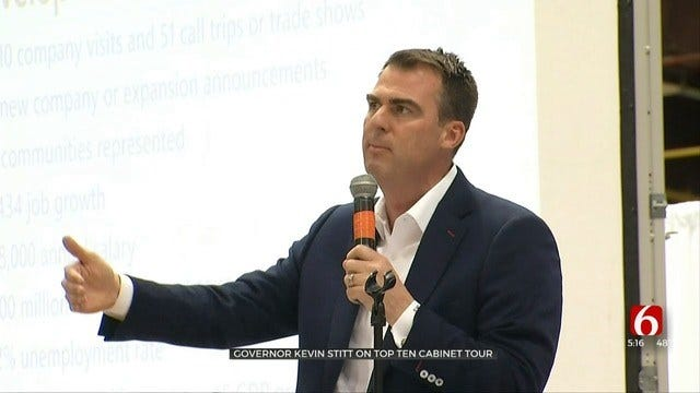Oklahoma Gov. Kevin Stitt, Cabinet Members Take Top 10 Tour To McAlester