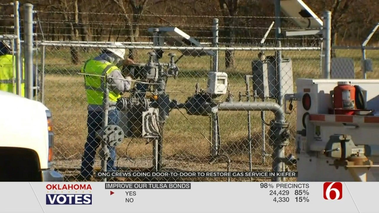 Equipment Failure Shuts Off Natural Gas To City Of Kiefer