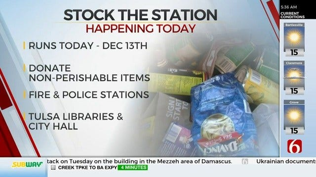 Stock The Station Food Drive Starts Tuesday
