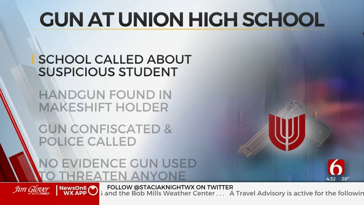 Student Caught With Gun At Union Public Schools, Officials Say