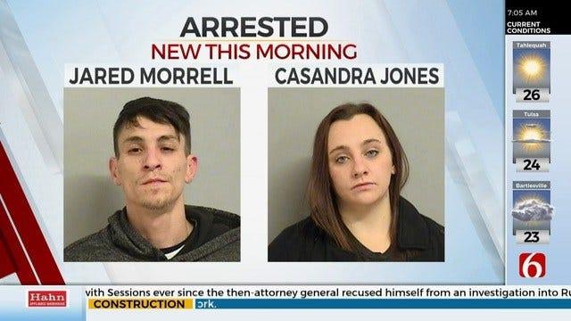 Tulsa Police: 2 Arrested After Drugs, Children Found In Stolen Car