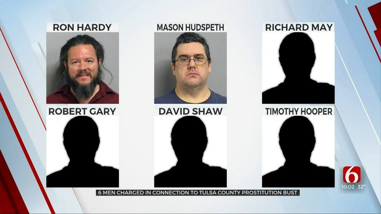 Tulsa County D.A. Charges More Men In Special Prostitution Operation