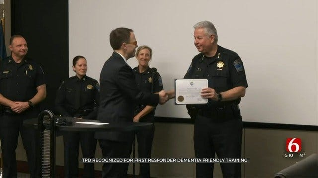Tulsa Police Recognized For Services To People With Dementia