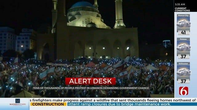 Protestors In Lebanon Demand New Prime Minister Be Named
