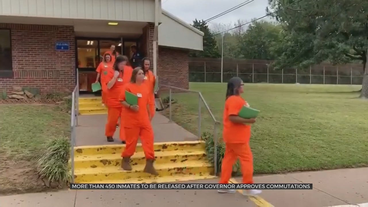 More Than 450 Oklahoma Inmates To Be Released After Gov. Stitt Signed Commutation Certificates