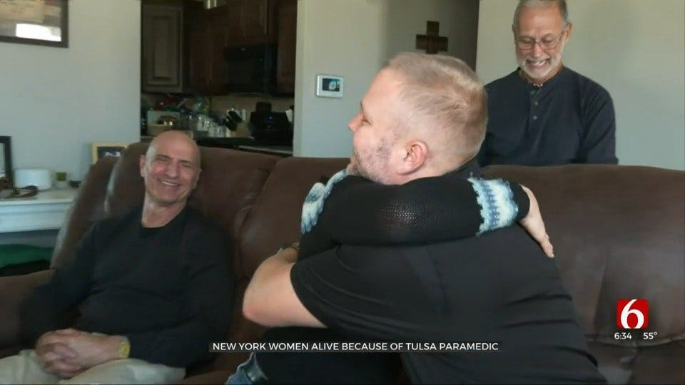 Woman Travels Hundreds Of Miles To Thank Tulsa Paramedic Who Saved Her Life