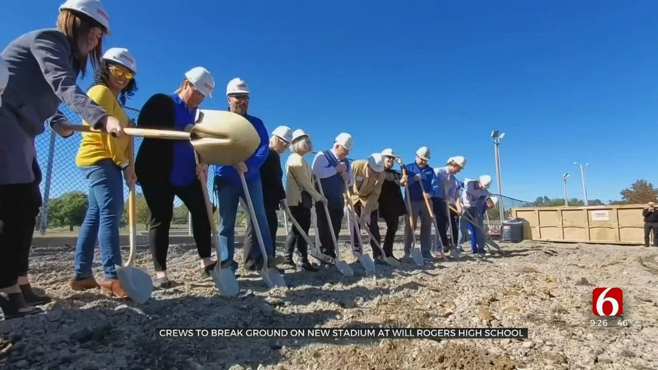 Crews To Break Ground On New Stadium At Will Rogers High School
