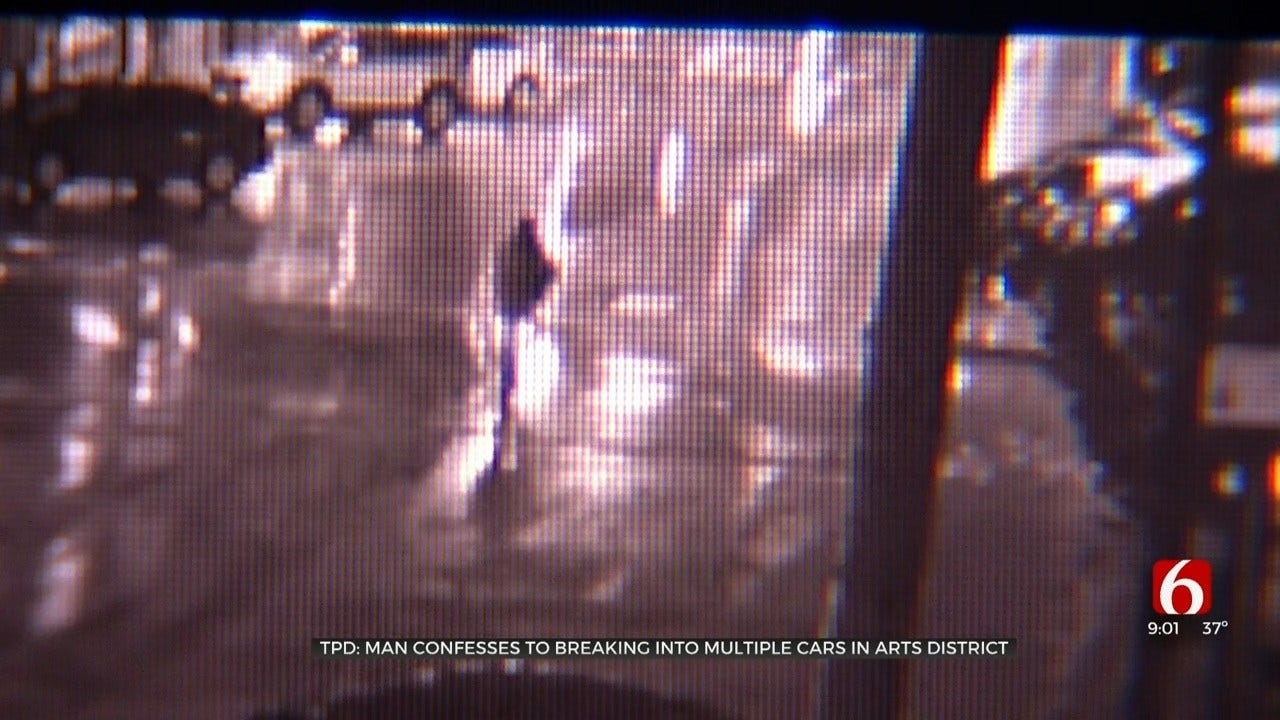Tulsa Police: Man In Custody After Admitting To Car Burglary