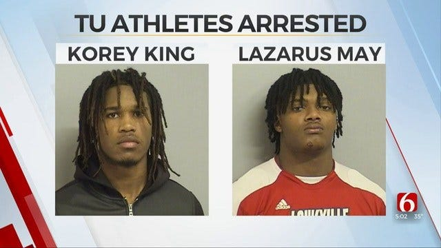 2 University Of Tulsa Football Players Removed From Team After Arrest