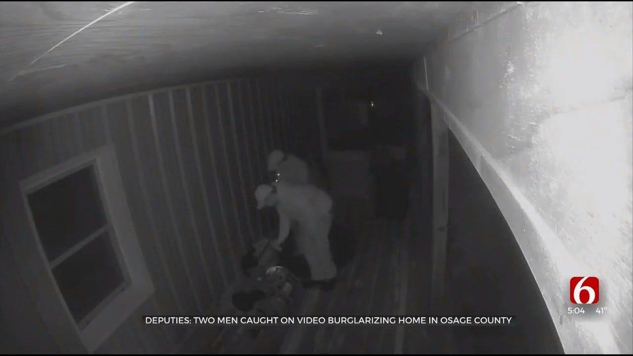Video Shows 2 Men Burglarizing Osage County Home