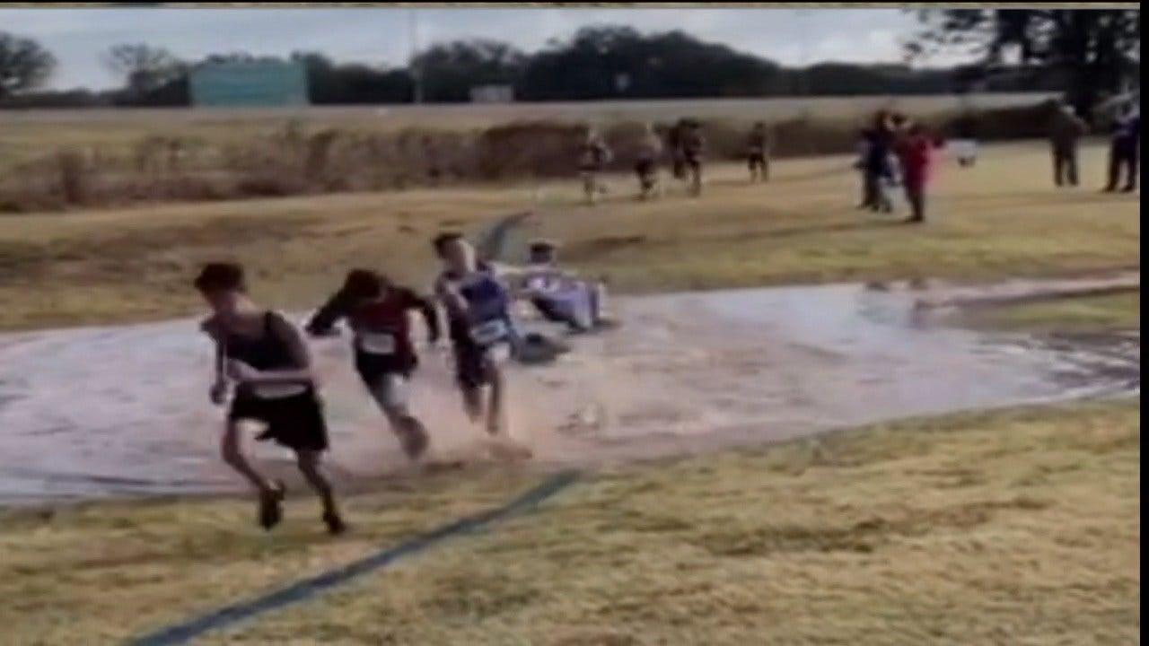 WATCH: Cannonball Kid Makes Big Splash At Oklahoma Cross Country Meet