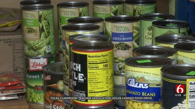 Canned Food Drive Underway For Tulsa Teachers In Need