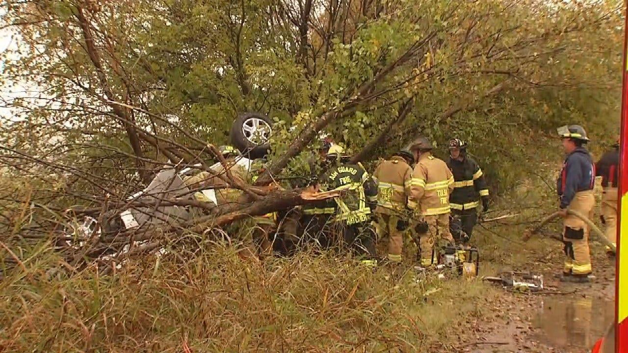 Emergency Crews Responding To Rollover Crash On Highway 169