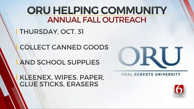 ORU Students Collecting Canned Goods, School Supplies On Halloween