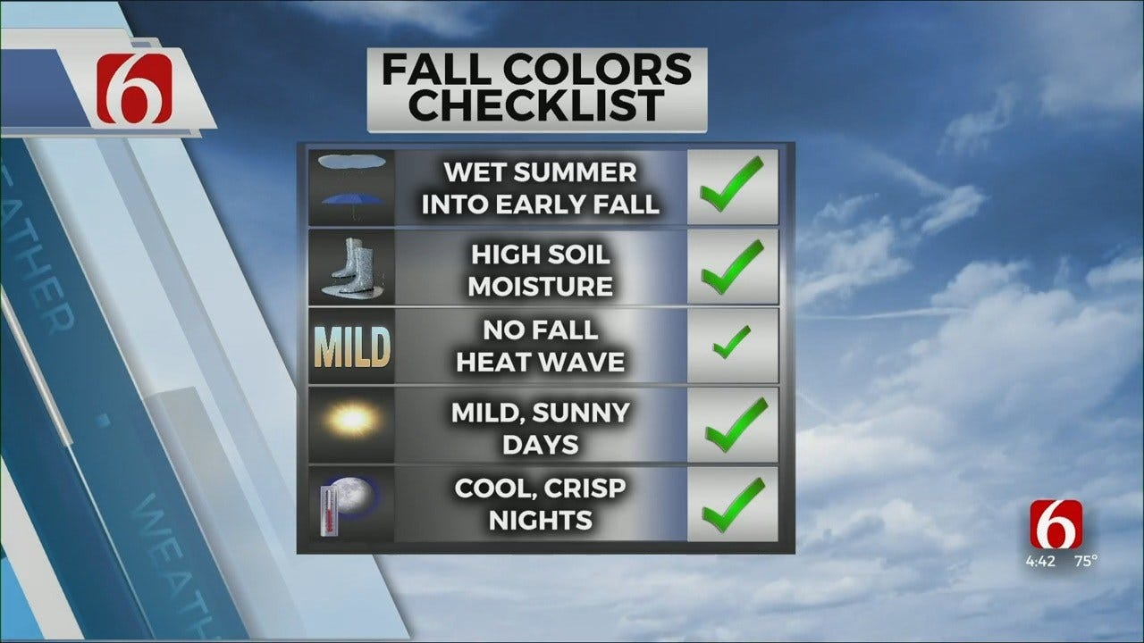 Mike Grogan's Fall Forecast: Colors To Peak Near The End Of October