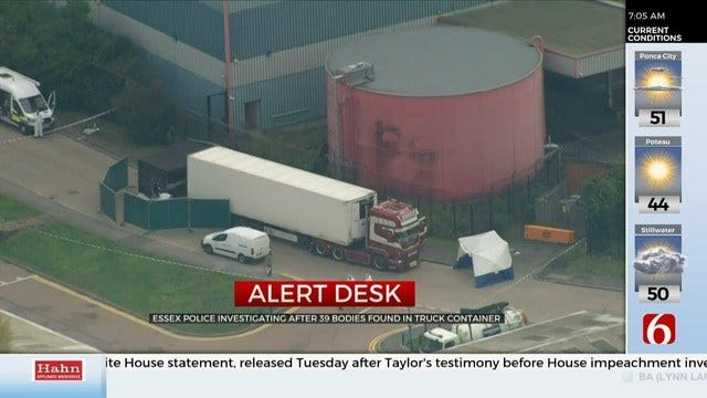 38 Found Dead In A Truck Container In England