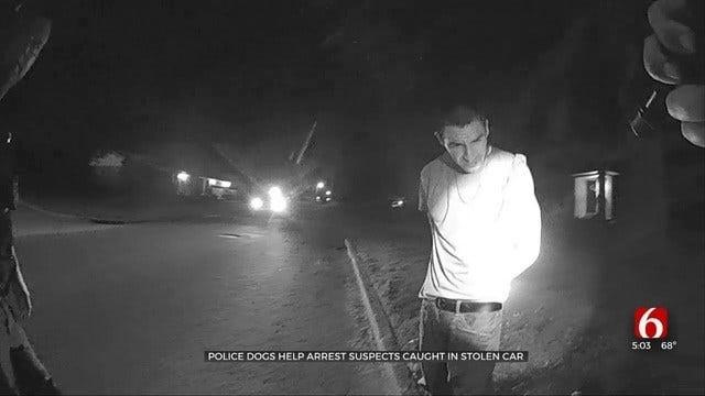 Caught On Camera: Tulsa Police Arrest 2 Men Caught In Stolen Car