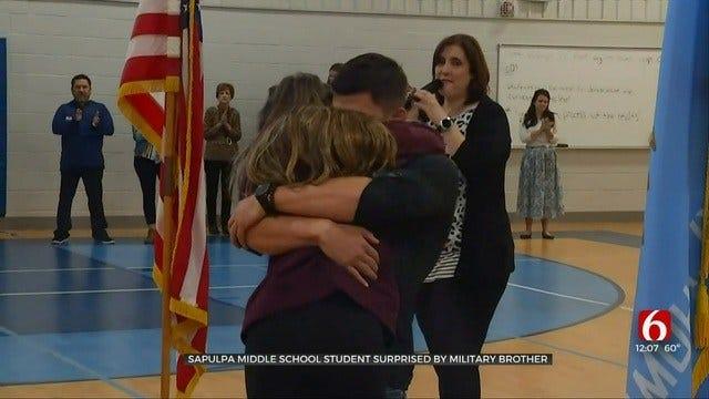 Sapulpa Student Surprised By Marine Brother's Visit