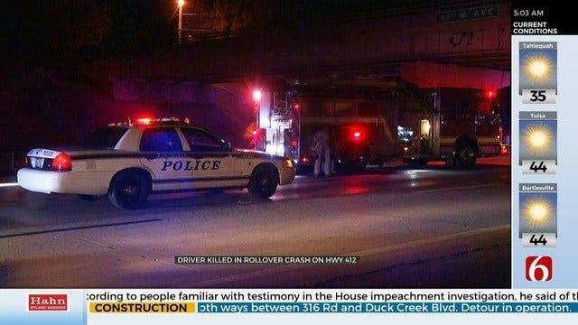 Driver Dead After Rollover Crash, Tulsa Police Say