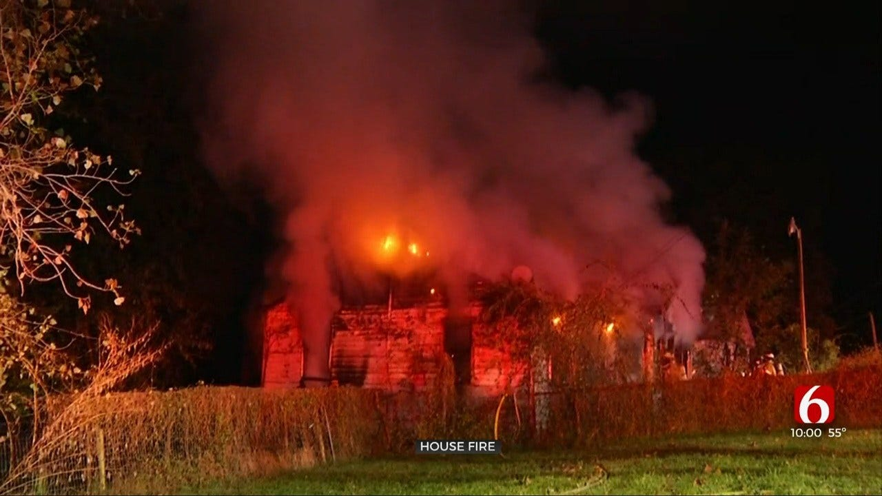 House Fire Erupts Near Hwy 51 And 49th W. Ave